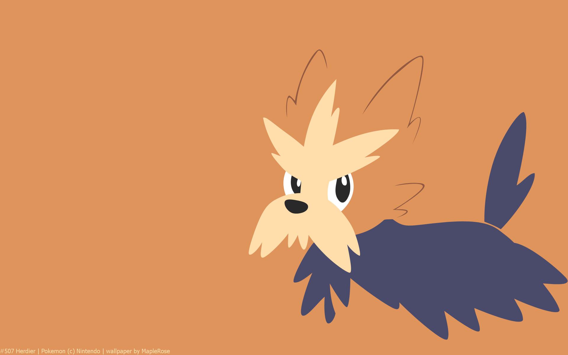 Herdier pokemon coloring pages - 507 Herdier