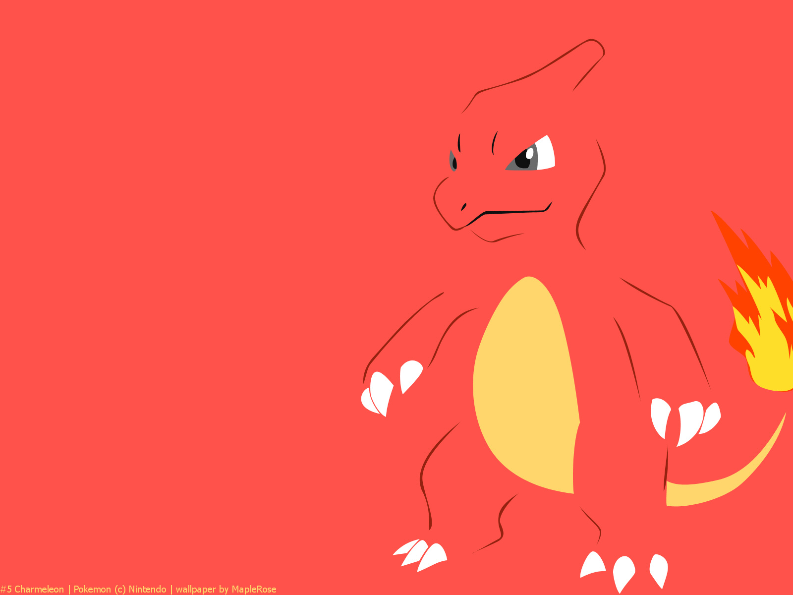 Charmeleon the flame pok 233 mon it has razor sharp claws and its tail